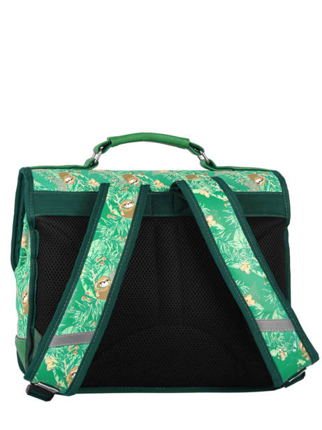 Cartable Enfant 2 Compartiments Cameleon Vert retro RET-CA35 vue secondaire 4