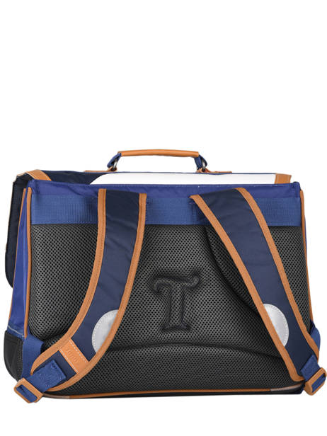 Satchel 2 Compartments Tann's Blue fantaisie garcon 20-38229 other view 4