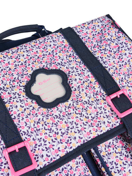 Schoolbag 2 Compartments Kickers Pink premium 671680 other view 1