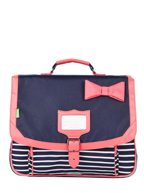 Cartable 2 Compartiments Tann's Bleu fantaisie fille 38152