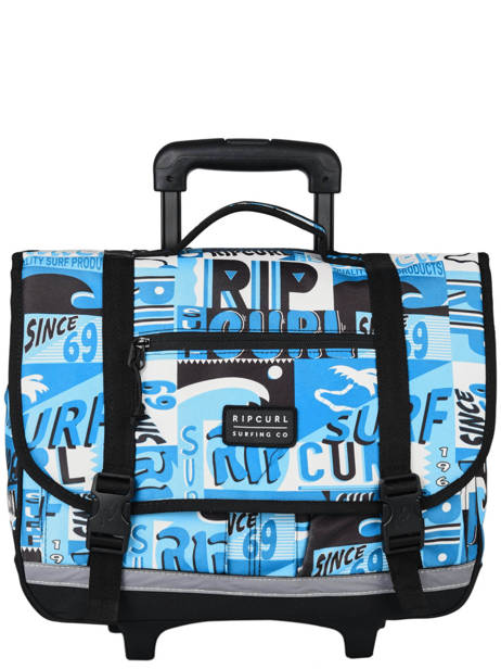 Wheeled Schoolbag 2 Compartments Rip curl Blue surf BBPBJ5SU