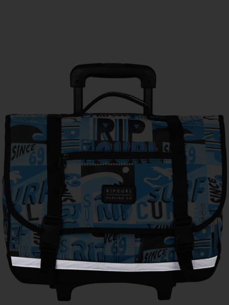 Wheeled Schoolbag 2 Compartments Rip curl Blue surf BBPBJ5SU other view 6