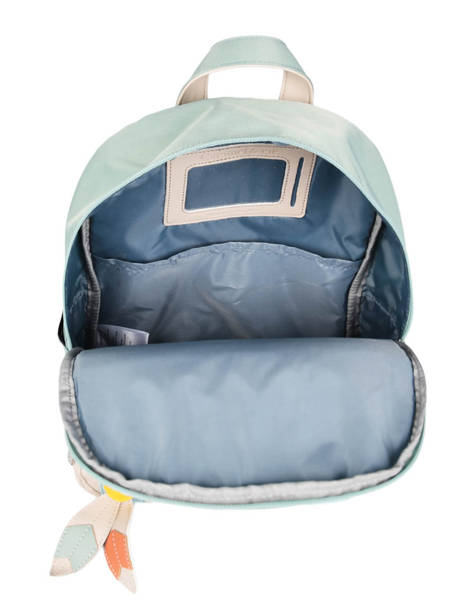 Mini Backpack 1 Compartment Caramel et cie Blue les chamans LC other view 4