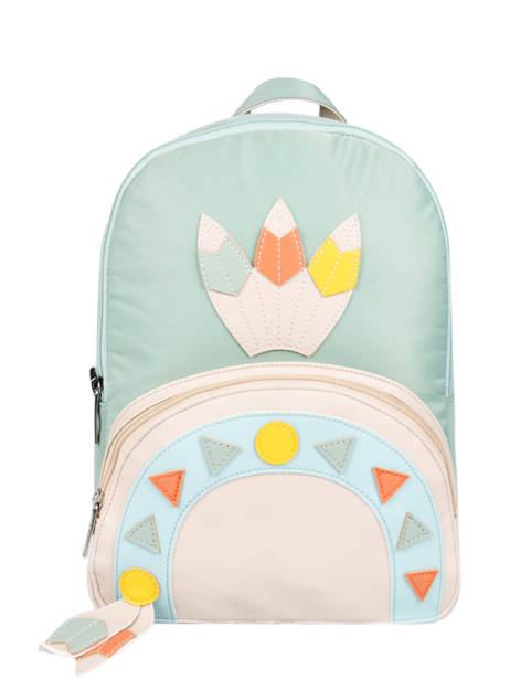 Mini Backpack 1 Compartment Caramel et cie Blue les chamans LC