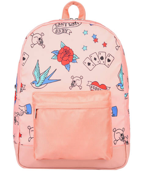 Backpack 1 Compartment Caramel et cie Pink fille F