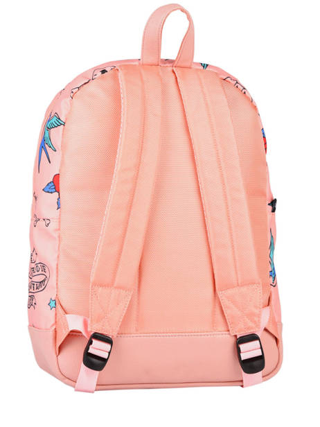 Backpack 1 Compartment Caramel et cie Pink fille F other view 3