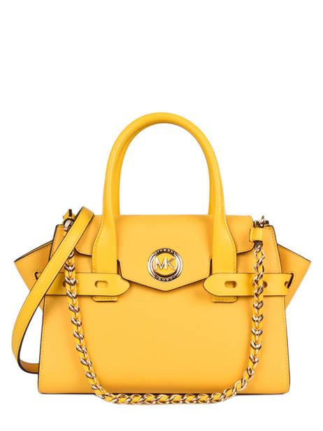 Leather Top-handle Bag Carmen Michael kors Yellow carmen S0GNMS1L