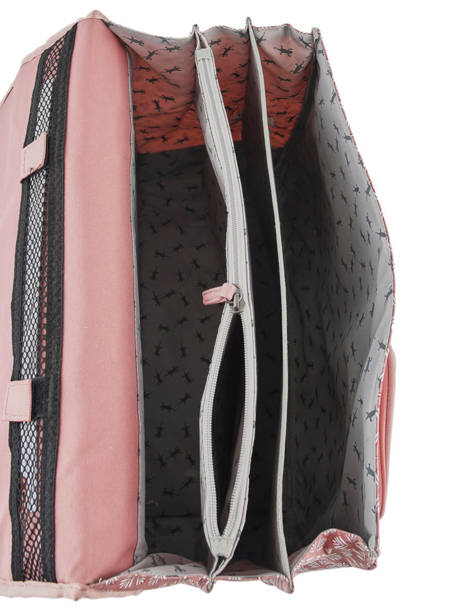 Cartable Fille 3 Compartiments Cameleon Rose vintage print girl VIG-CA41 vue secondaire 6