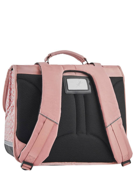 Cartable Fille 3 Compartiments Cameleon Rose vintage print girl VIG-CA41 vue secondaire 5