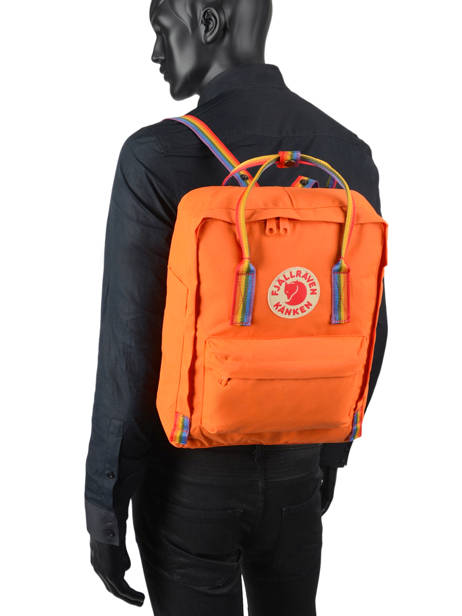 Sac à Dos 1 Compartiment Fjallraven Orange kanken 23620 vue secondaire 3