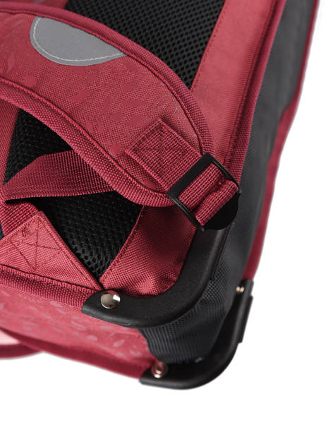 Cartable 2 Compartiments Réversible Pol fox Rouge fille FCA38R vue secondaire 2