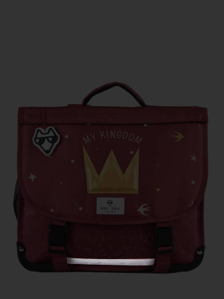 Cartable 2 Compartiments Réversible Pol fox Rouge fille FCA38R vue secondaire 6