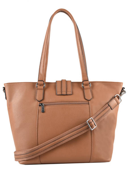 Leather Confort Tote Bag Hexagona Brown confort 466559 other view 2