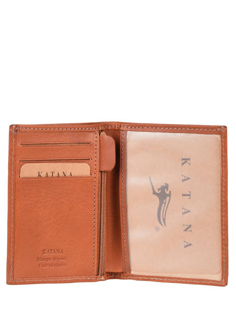 Wallet Leather Katana Beige tampon 253090N other view 1
