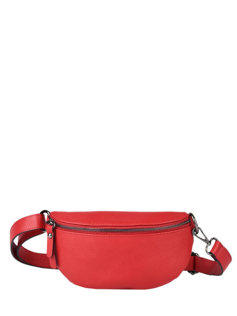 Leather Caviar Belt Bag Milano Red CA19091N