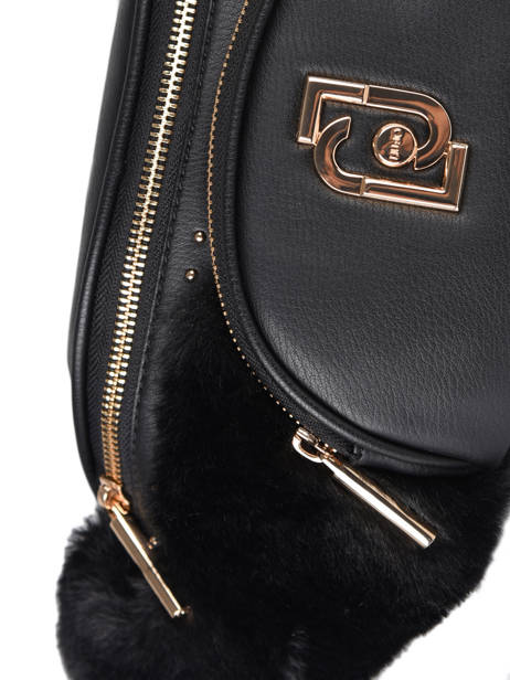 Cool Belt Bag With Imitation Fur Liu jo Black cool AF0026 other view 1