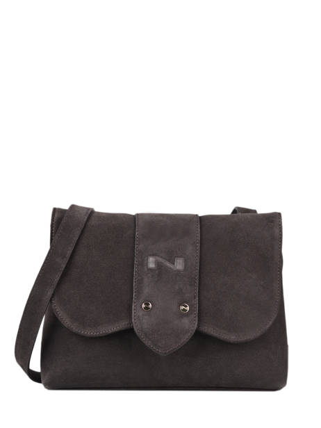 Suede Leather Bag Enora  Nathan baume Brown nathan 28L