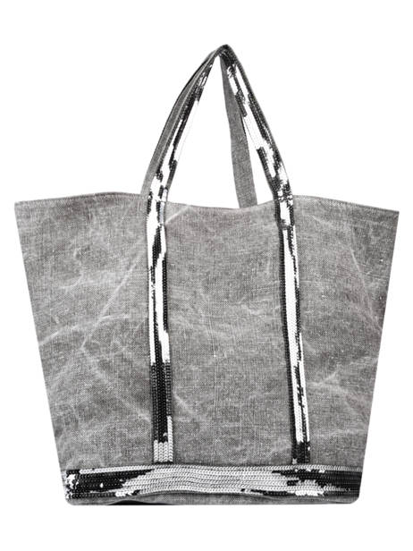 Linen Tote Bag Le Cabas Sequins Vanessa bruno Gray cabas 31V40414 other view 3