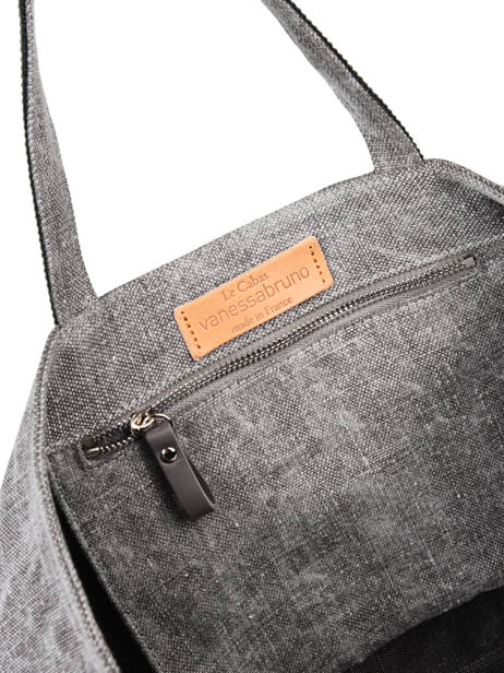 Linen Tote Bag Le Cabas Sequins Vanessa bruno Gray cabas 31V40414 other view 1