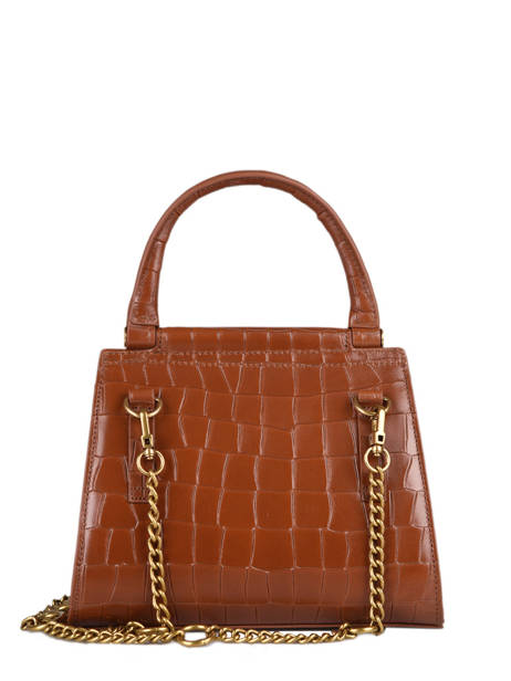 Leather Dany Croc Crossbody Bag Nat et nin Brown croc C other view 4