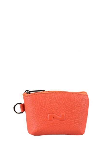 Leather Purse Original N Nathan baume Orange original n 203N
