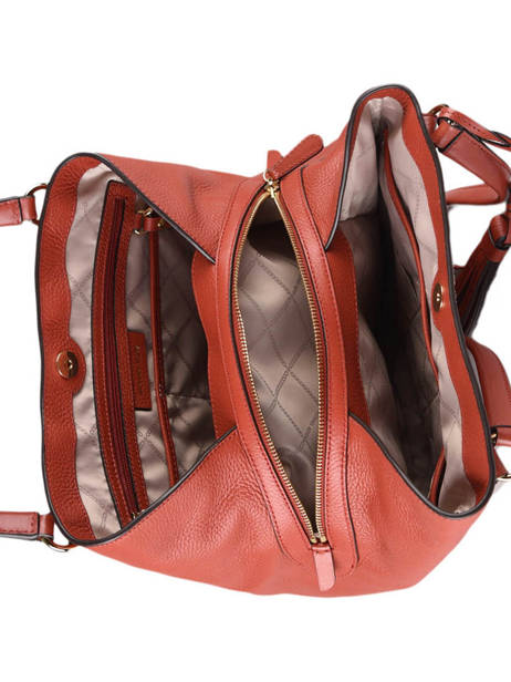 Sac Shopping Carrie Cuir Michael kors Rouge carrie F0G1AE3L vue secondaire 4