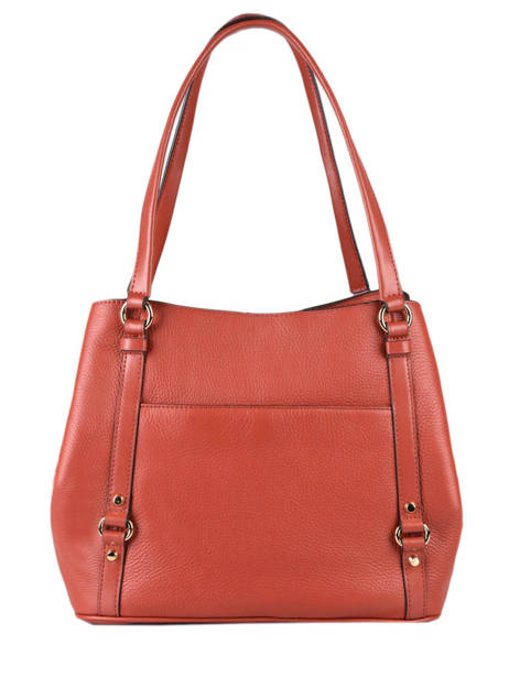 Sac Shopping Carrie Cuir Michael kors Rouge carrie F0G1AE3L vue secondaire 3