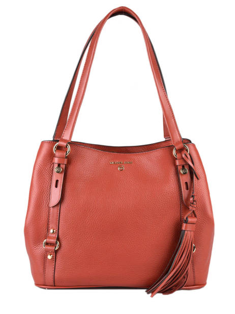Sac Shopping Carrie Cuir Michael kors Rouge carrie F0G1AE3L