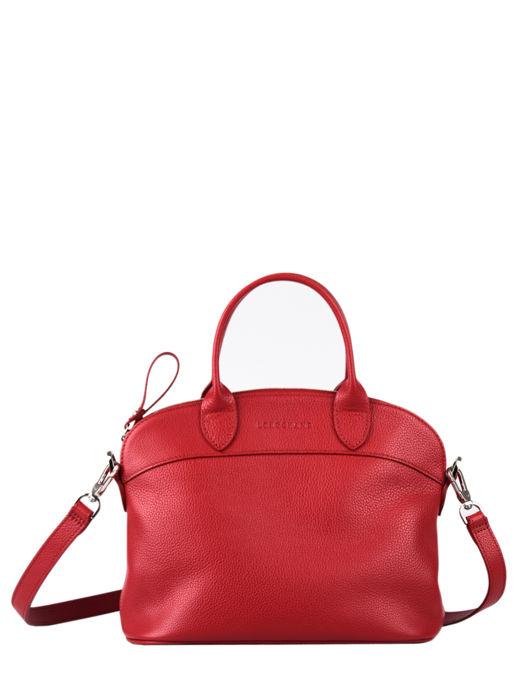 Longchamp Le foulonné Handbag Red