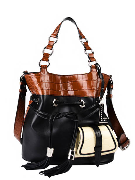 Medium Leather Premier Flirt Croco Bucket Bag Lancel premier flirt A10926 other view 1