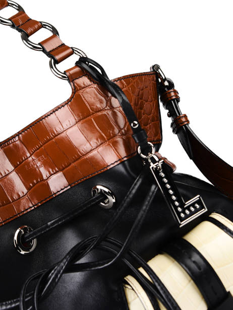 Medium Leather Premier Flirt Croco Bucket Bag Lancel premier flirt A10926 other view 4