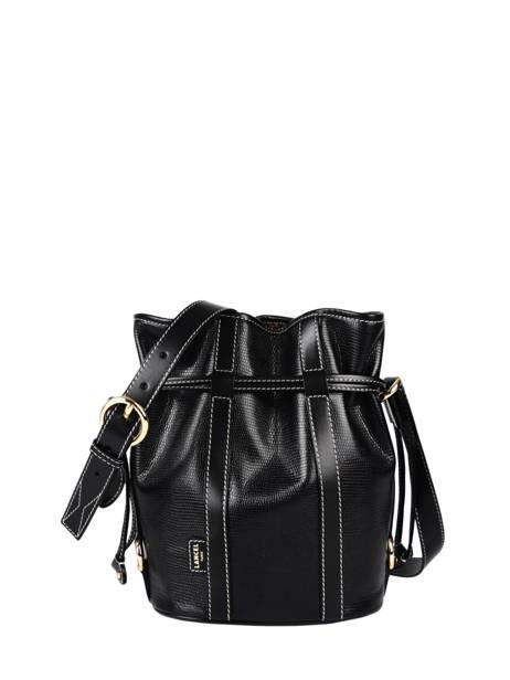 Small Leather Elsa Bucket Bag Lancel Black elsa A10997