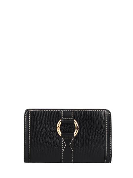 Portefeuille Compact Zippé Elsa Cuir Lancel Noir elsa A10999