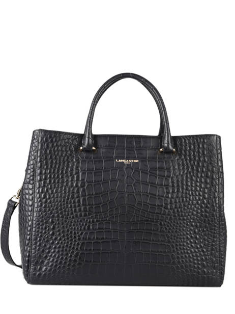 Sac à Main A4 Exotic Croco Souple Lancaster Noir exotic croco souple 73