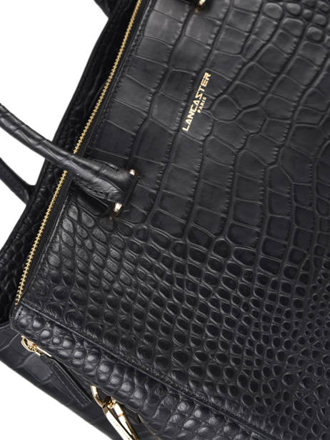 Sac à Main A4 Exotic Croco Souple Lancaster Noir exotic croco souple 73 vue secondaire 1