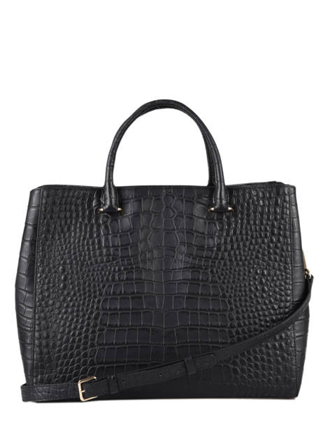 Sac à Main A4 Exotic Croco Souple Lancaster Noir exotic croco souple 73 vue secondaire 3