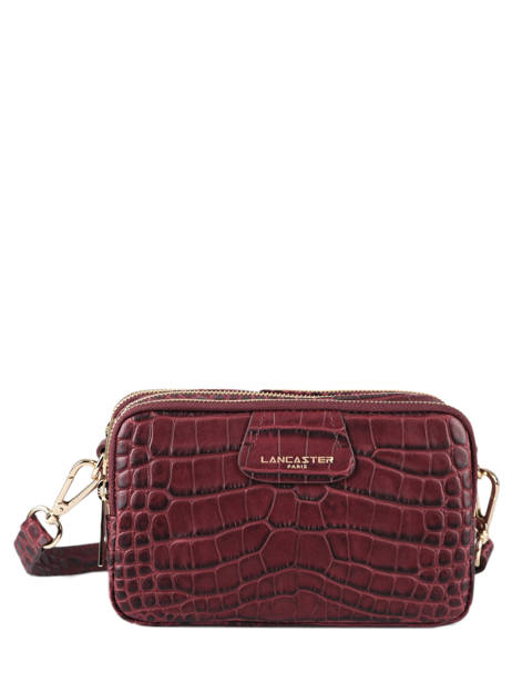 Crossbody Bag Exotic Croco Souple Leather Lancaster Red exotic croco souple 68