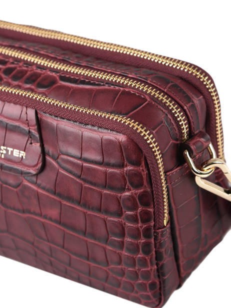 Crossbody Bag Exotic Croco Souple Leather Lancaster Red exotic croco souple 68 other view 1