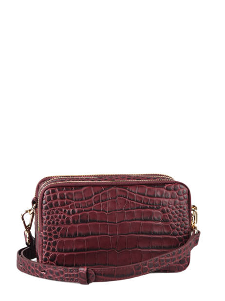 Crossbody Bag Exotic Croco Souple Leather Lancaster Red exotic croco souple 68 other view 3
