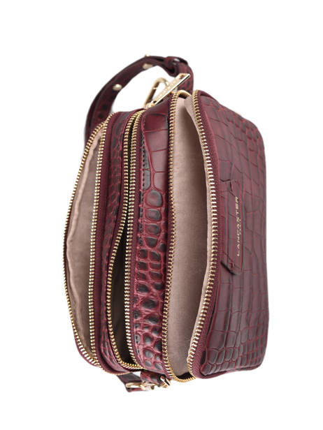 Crossbody Bag Exotic Croco Souple Leather Lancaster Red exotic croco souple 68 other view 4