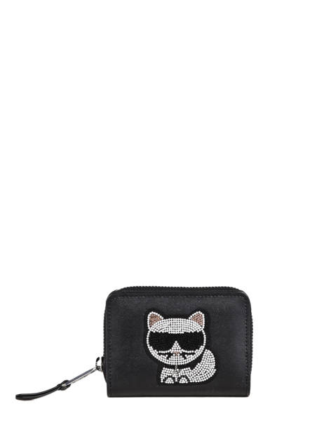Leather K Choupette Wallet Karl lagerfeld Black k choupette 206W3201