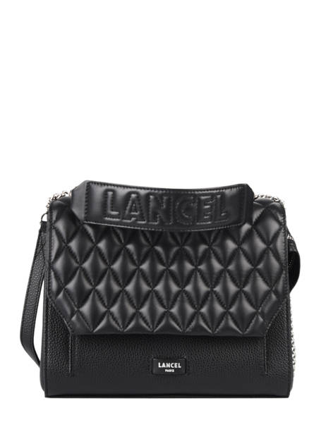 Quilted Leather Ninon Top-handle Bag Lancel Black ninon A11132