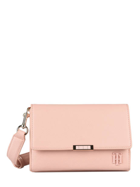 Shoulder Bag Th Saffiano Tommy hilfiger Pink th saffiano AW08534