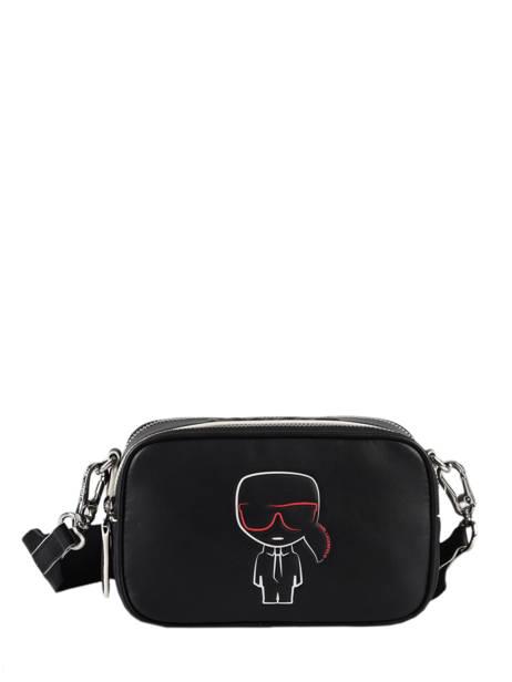 Leather K Outline Crossbody Bag Karl lagerfeld Black k outline 206W3030