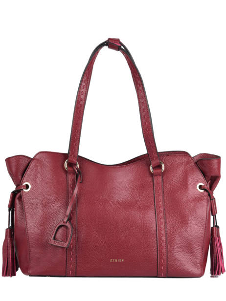Sac Shopping Tradition Cuir Etrier Rouge tradition EHER25