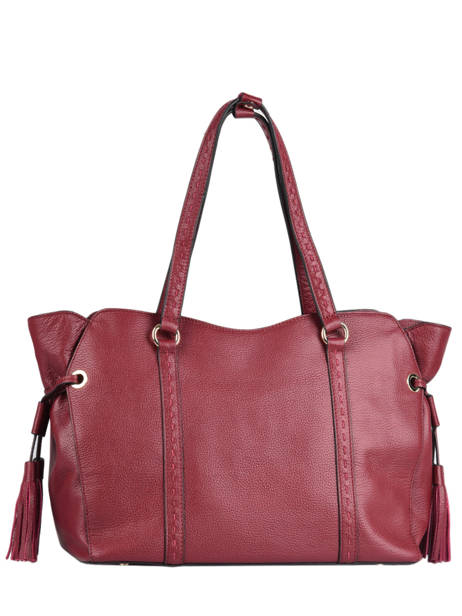 Sac Shopping Tradition Cuir Etrier Rouge tradition EHER25 vue secondaire 3