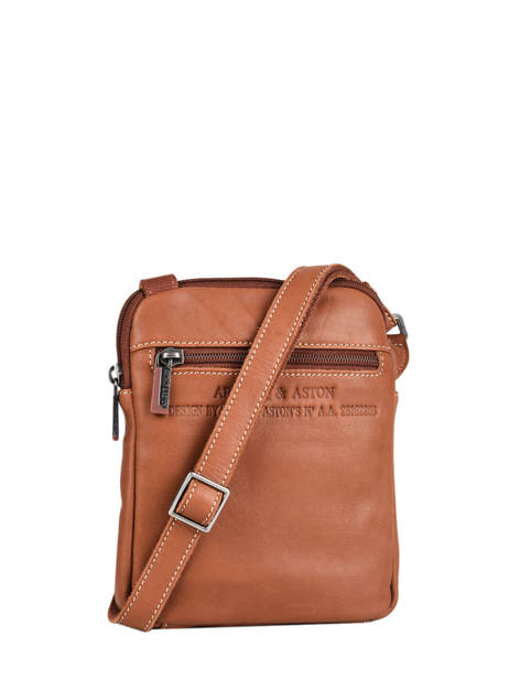 Leather Arthur Crossbody Bag Arthur et aston Brown arthur 8 other view 3