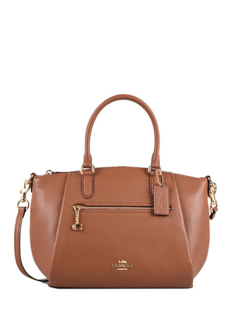 Top Handle Elise Leather Coach Brown elise 79316