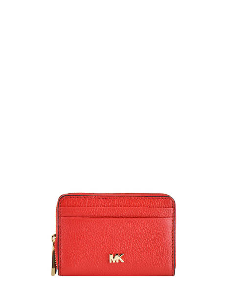 Porte-monnaie Cuir Michael kors Rouge money pieces F9GF6Z1L