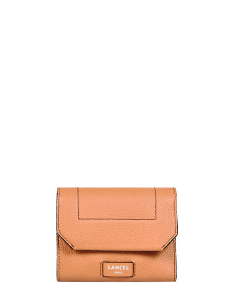 Compact Leather Wallet Ninon Lancel Brown ninon A10296